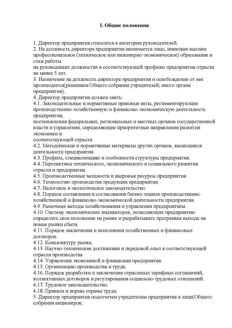 Должностная инструкция на зам начальника отдела социальных гарантий и выплат