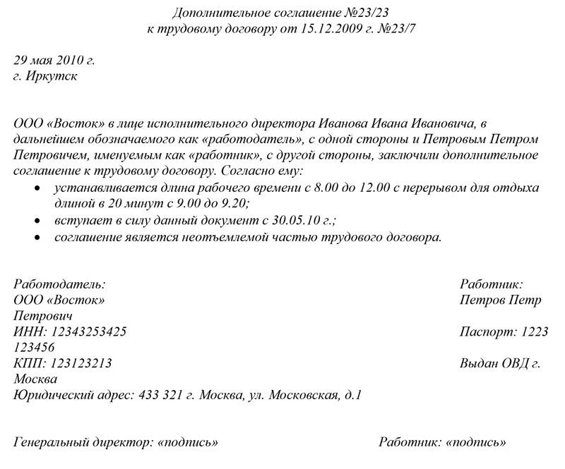 Договор займа генерального директора ооо