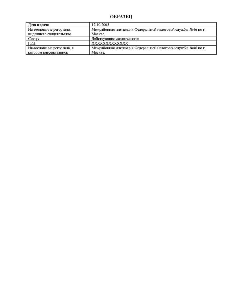 заявление для получения выписки из егрип бланк